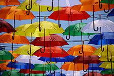 Colorful Umbrella Promotion