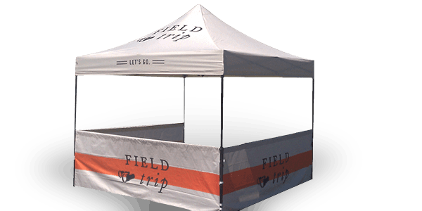 Custom Printed Tent with Tagline