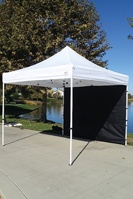 Add a tent wall to your canopy for up-front branding while dealing with customers and protection from the elements! Available with adjustable velcro straps ... & Tent Accessories | VIP